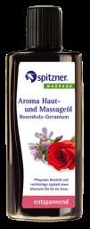 Aroma-Haut- und Massageöl · Rosenholz-Geranium · entspannend · Spitzner · 190 ml Flasche