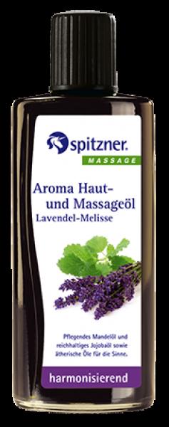Aroma-Haut- und Massageöl · Lavendel-Melisse · harmonisierend · Spitzner · 190 ml Flasche