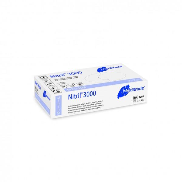 Nitril 3000 · Nitril - Untersuchungs - Handschuh · mikrogeraut · unsteril · latex- und puderfrei