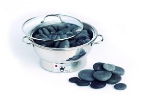 Hot Stone Wärmegerät aus Edelstahl, groß