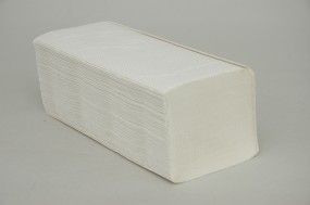 Papierhandtücher verklebt - 25 x 21 cm - weiß