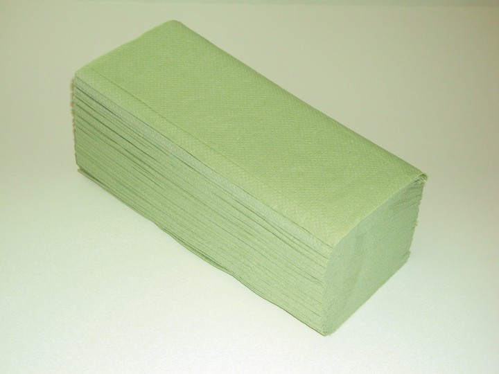 Papierhandtücher - 25 x 23 cm - hellgrün