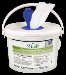 cosiMed Desinfektionstücher Eimer XXL Format 280 x 280 mm