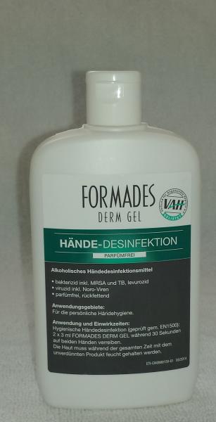 Formades Derm Gel - Hände-Desinfektion, 150 ml Flasche