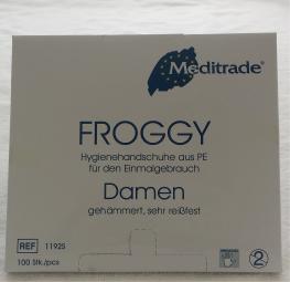 FROGGY Hygienehandschuhe aus PE, Damen Gr. S