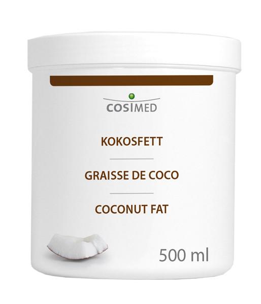 cosiMed Kokosöl, Kokosfett - Massageöl - Basisöl - 500ml Dose