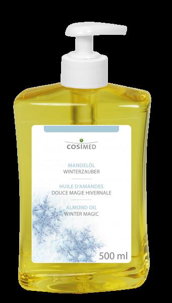 cosiMed Mandelöl Winterzauber Massageöl, 500 ml Dosierflasche