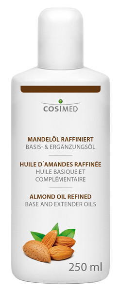 cosiMed Mandelöl raffiniert, Massageöl, Basisöl, 250 ml