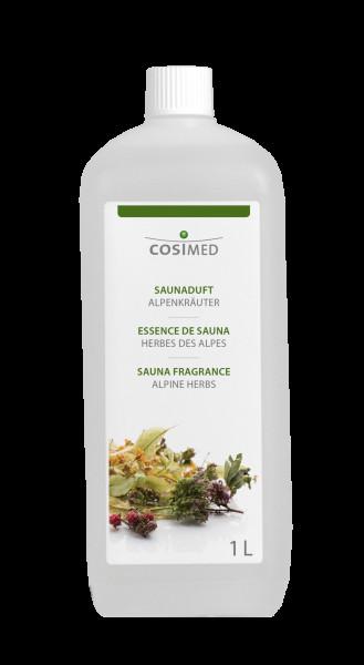 cosiMed Saunaduft Alpenkräuter, Saunaaufguss, 1 Liter