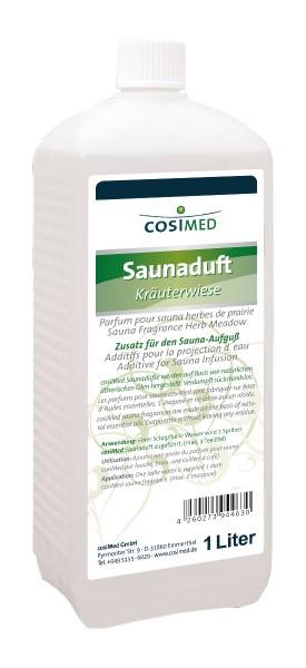 cosiMed Saunaduft Kräuterwiese, Saunaaufguss, 1 Liter