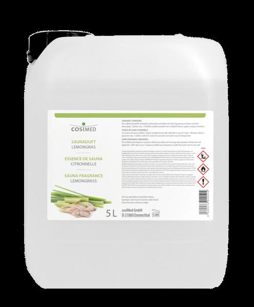 Saunaaufguss cosiMed Saunaduft Lemongras 5 Liter Kanister