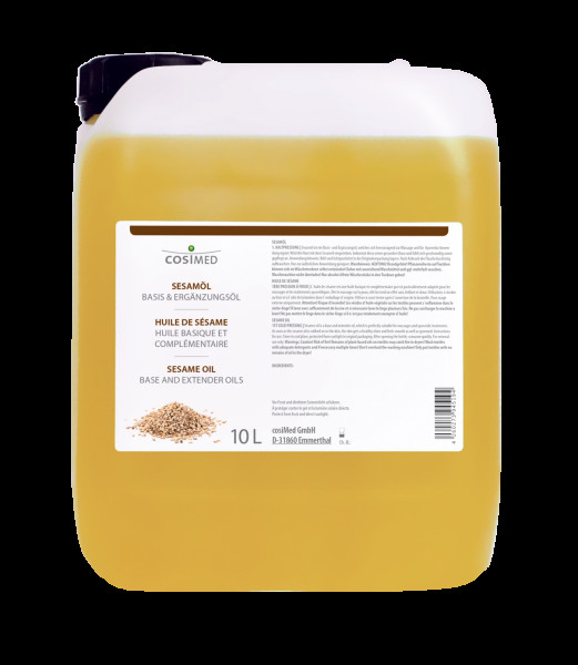 Sesamöl 1. Kaltpressung 10 Liter cosiMed | Massageöl, Basisöl