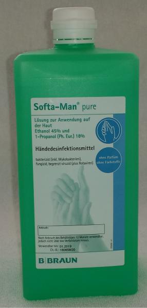 Softa-Man pure Händedesinfektion, 1 l Flasche