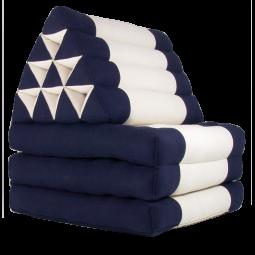 Triangelkissen blau-weiß