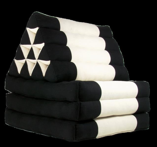 Triangelkissen schwarz-weiß