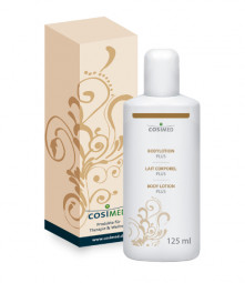 cosiMed Bodylotion Plus in beiger Faltschachtel