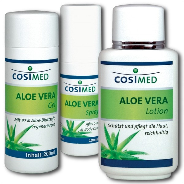Aloe Vera Produkt Serie | Gel, Spray, Lotion | cosiMed