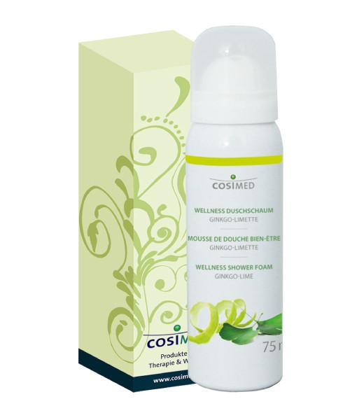 cosiMed Wellness Duschschaum Ginkgo-Limette in grüner Faltschachtel