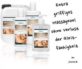 Griffiges Massageöl neutral mit guter Gleiteigenschaft