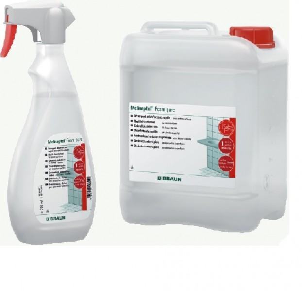 Meliseptol - Foam pure, Sprühflasche 750 ml, Schaum für Desinfektion kleiner Flächen, parfümfrei